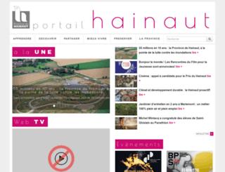 portail.hainaut.be screenshot