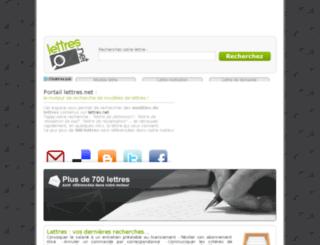 portail.lettres.net screenshot