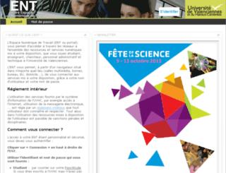 portail.univ-valenciennes.fr screenshot