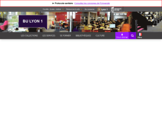 portaildoc.univ-lyon1.fr screenshot