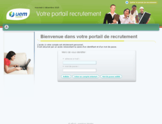 portailrecrutement.uem-metz.fr screenshot