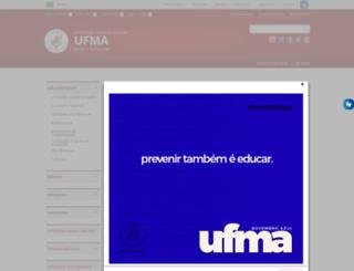 portais.ufma.br screenshot