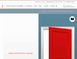 portal.4freelance.de screenshot