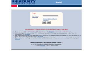 portal.abertay.ac.uk screenshot