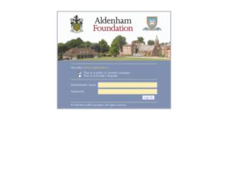 portal.aldenham.com screenshot