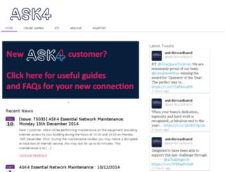 portal.ask4.com screenshot