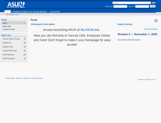 portal.asun.edu screenshot