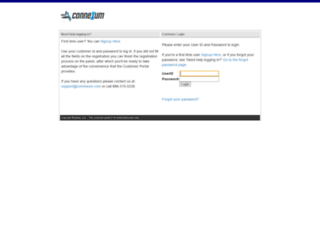 portal.connexum.com screenshot