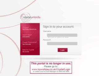 portal.crystalumbrella.com screenshot