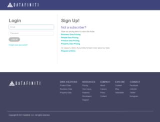 portal.datafiniti.co screenshot