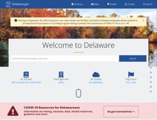 portal.delaware.gov screenshot