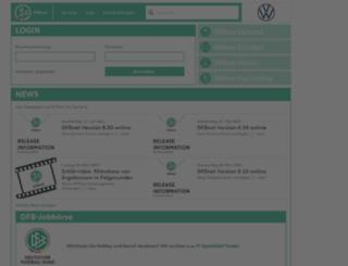 portal.dfbnet.org screenshot