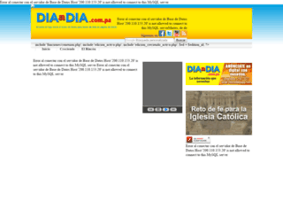 portal.diaadia.com.pa screenshot