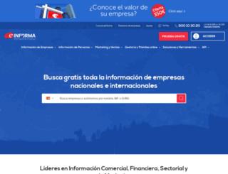 portal.einforma.com screenshot