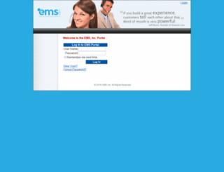portal.emscrm.com screenshot
