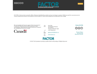 portal.factor.ca screenshot