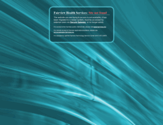 portal.fairview.org screenshot