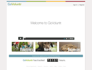 portal.govoluntr.com screenshot