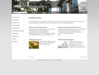 portal.graduatecenter-lmu.de screenshot