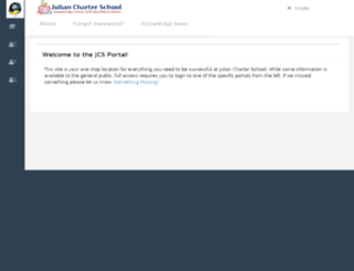 portal.juliancharterschool.org screenshot