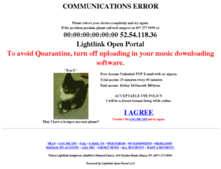 portal.lightlink.com screenshot