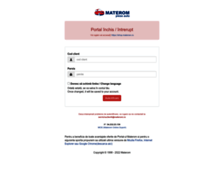 portal.materom.ro screenshot