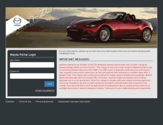 portal.mazdaeur.com screenshot