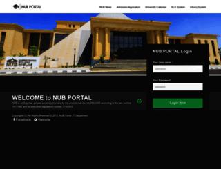 portal.nub.edu.eg screenshot