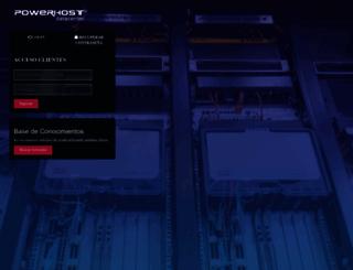portal.powerhost.cl screenshot