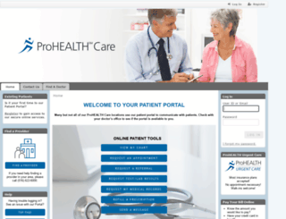 portal.prohealthcare.com screenshot