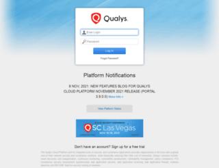 portal.qualys.com screenshot