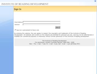 portal.readingprograms.org screenshot