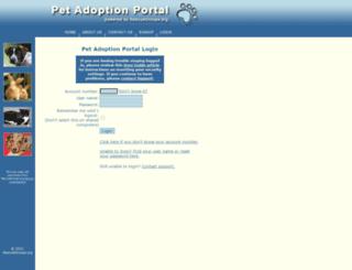 portal.rescuegroups.org screenshot