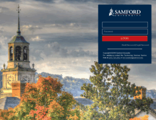 portal.samford.edu screenshot