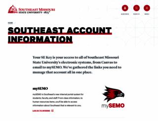 portal.semo.edu screenshot