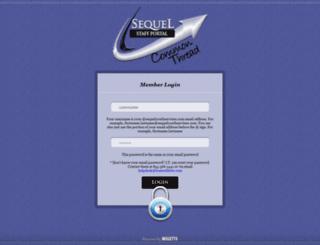 portal.sequelyouthservices.com screenshot