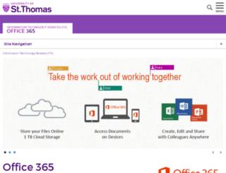 portal.stthomas.edu screenshot