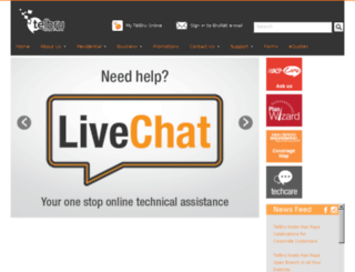 portal.telbru.com.bn screenshot
