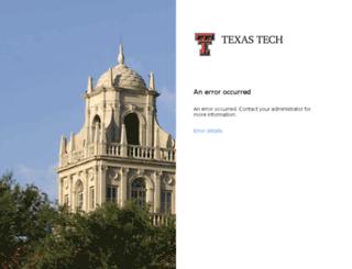 portal.texastech.edu screenshot