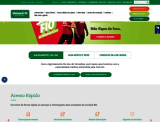 portal.unimedbh.com.br screenshot