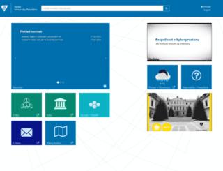 portal.upol.cz screenshot