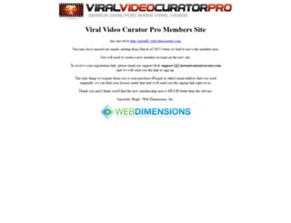 portal.viralvideocurator.com screenshot