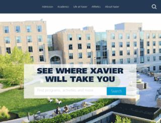 portal.xavier.edu screenshot
