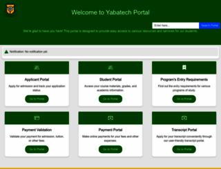 portal.yabatech.edu.ng screenshot