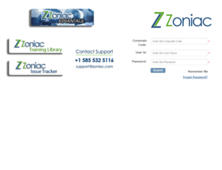 portal.zoniac.com screenshot