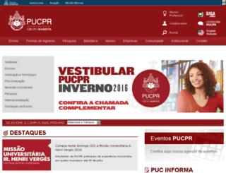 portal02.pucpr.br screenshot