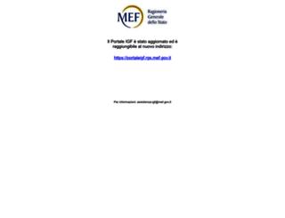 portaleigf.tesoro.it screenshot