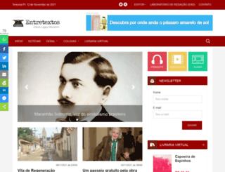 portalentretextos.com.br screenshot