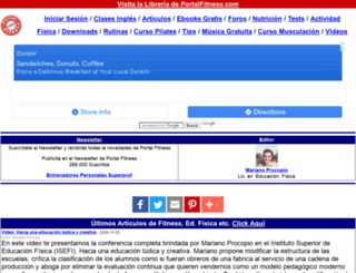 portalfitness.com screenshot