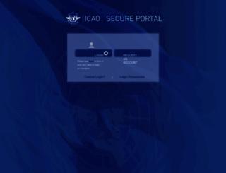 portallogin.icao.int screenshot